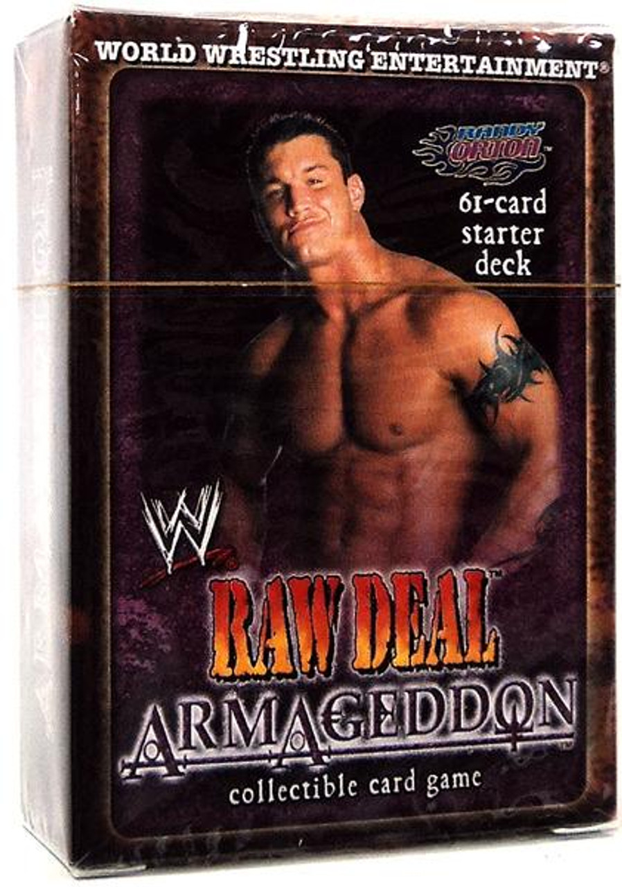 WWE Wrestling Raw Deal Trading Card Game Armageddon Randy Orton Starter Deck