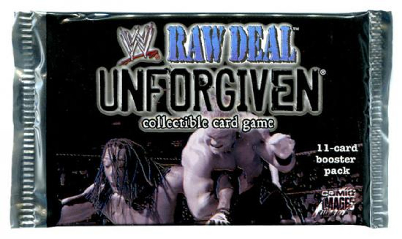 WWE Wrestling Raw Deal Trading Card Game Unforgiven Booster Pack