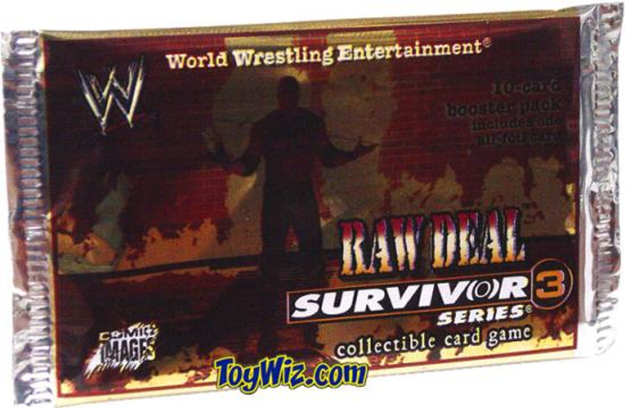 WWE Wrestling Raw Deal Trading Card Game Survivor Series 3 Booster Pack