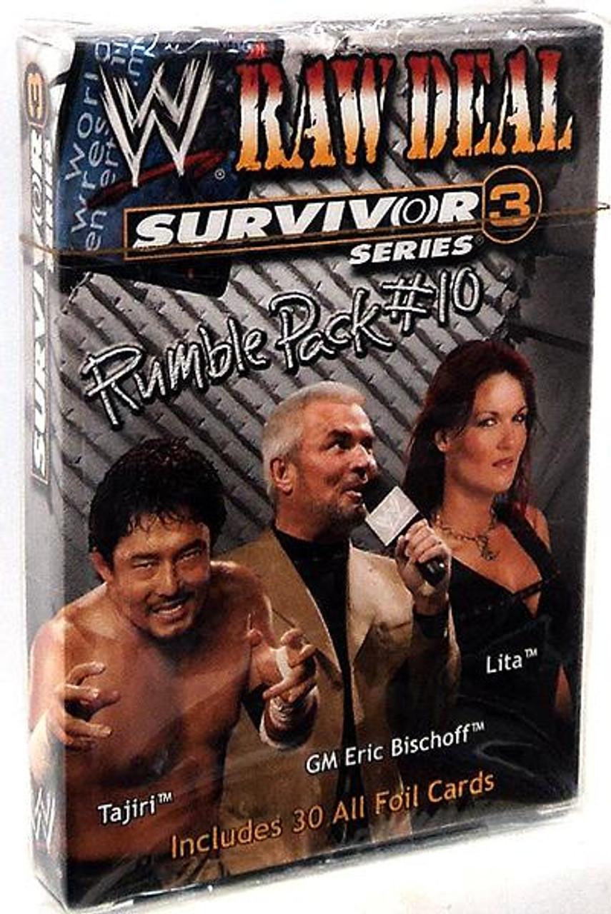 WWE Wrestling Raw Deal Trading Card Game Survivor Series 3 Rumble Pack #10 Starter Deck #10