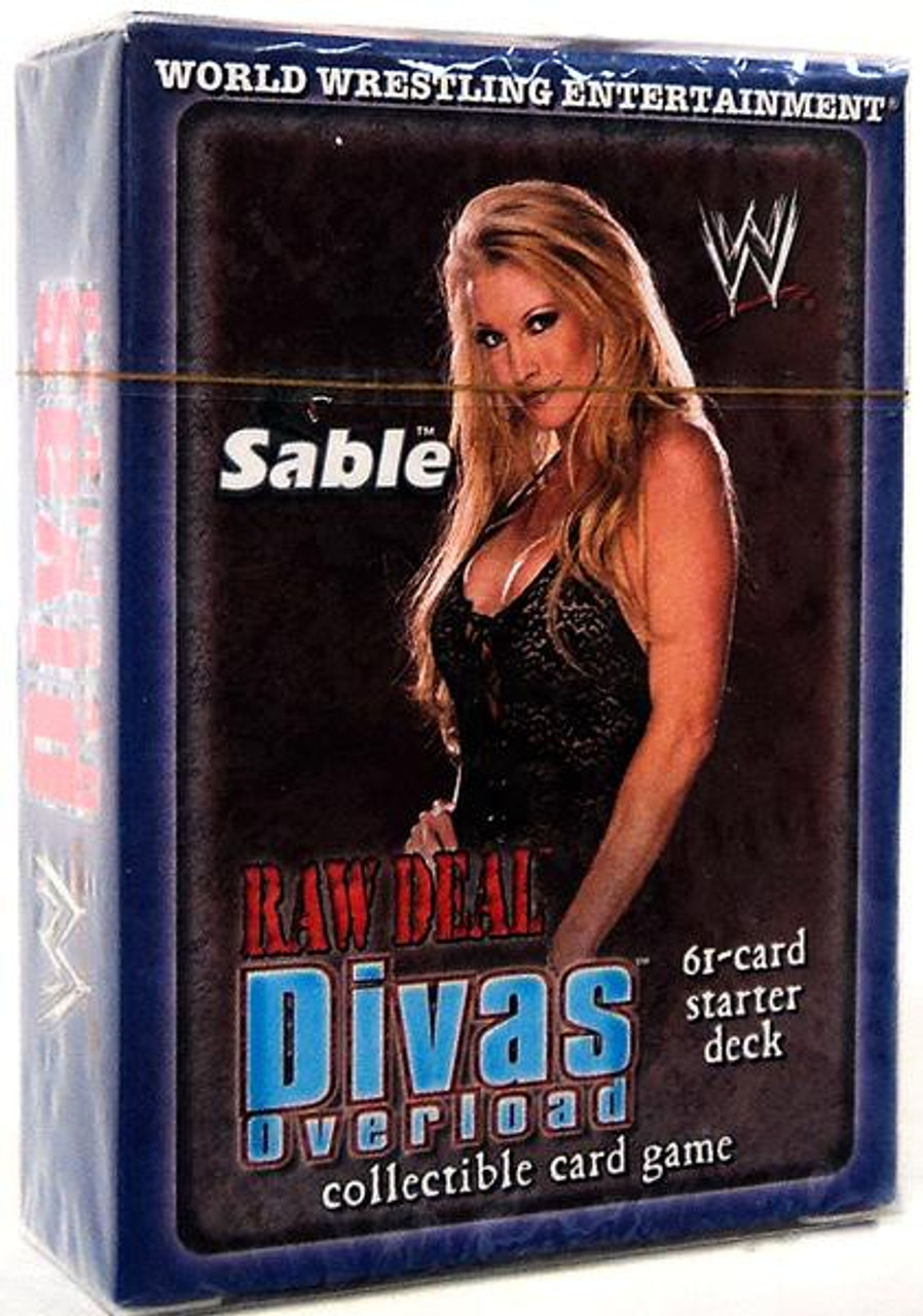 WWE Wrestling Raw Deal Trading Card Game Divas Overloaded Sable Starter Deck