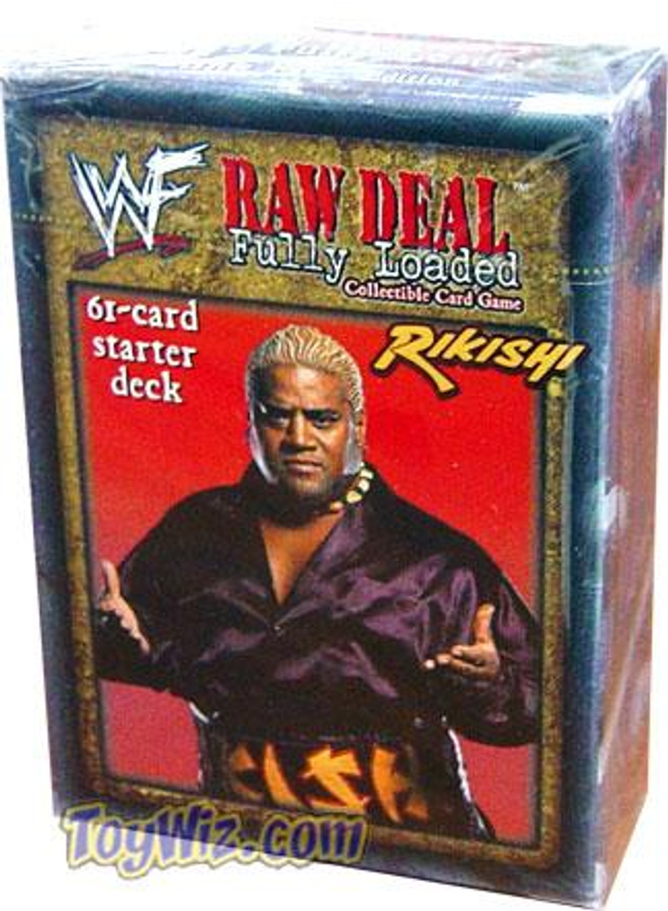 WWE Wrestling Raw Deal Trading Card Game Fully Loaded Starter Deck
