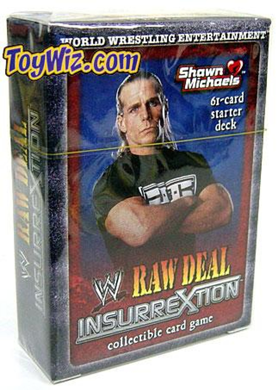 WWE Wrestling Raw Deal Trading Card Game InsurreXtion Shawn Michaels Starter Deck