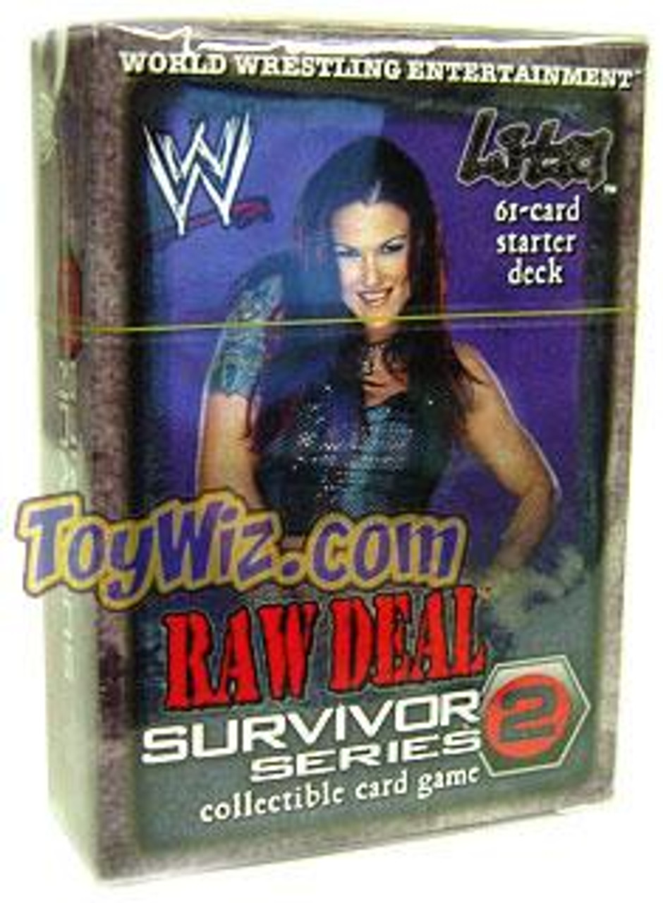 WWE Wrestling Raw Deal Trading Card Game Survivor Series 2 Lita Starter Deck