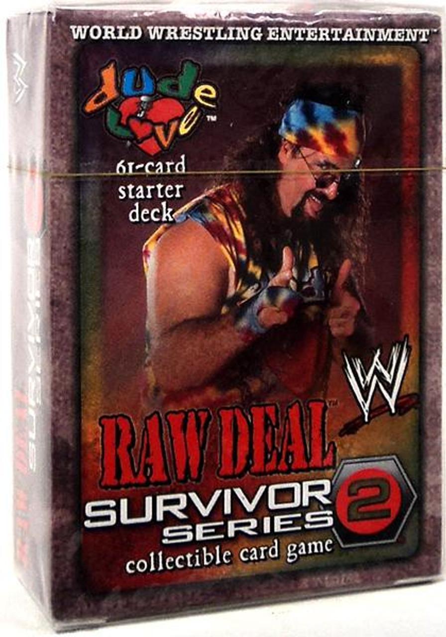 WWE Wrestling Raw Deal Trading Card Game Survivor Series 2 Dude Love Starter Deck