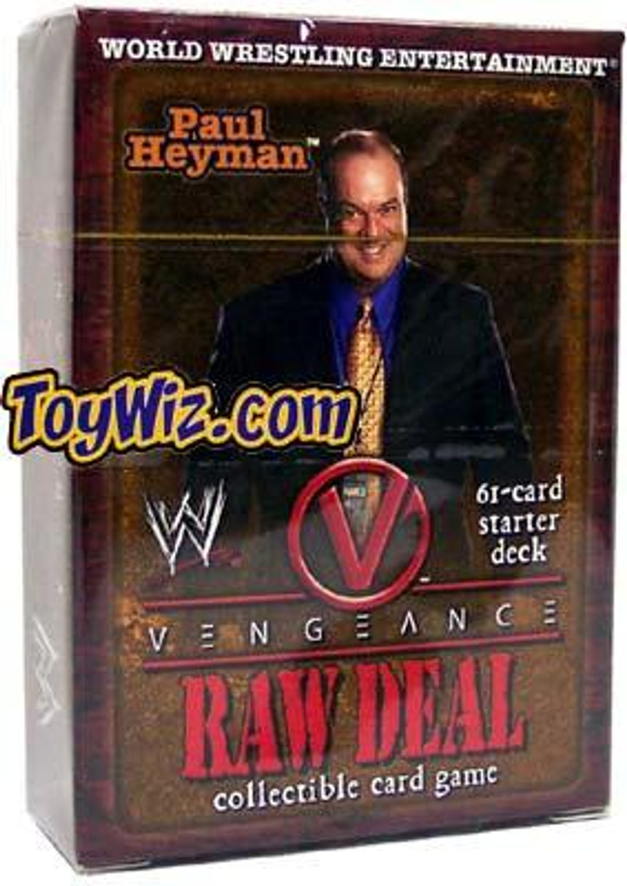 WWE Wrestling Raw Deal Trading Card Game Vengeance Paul Heyman Starter Deck