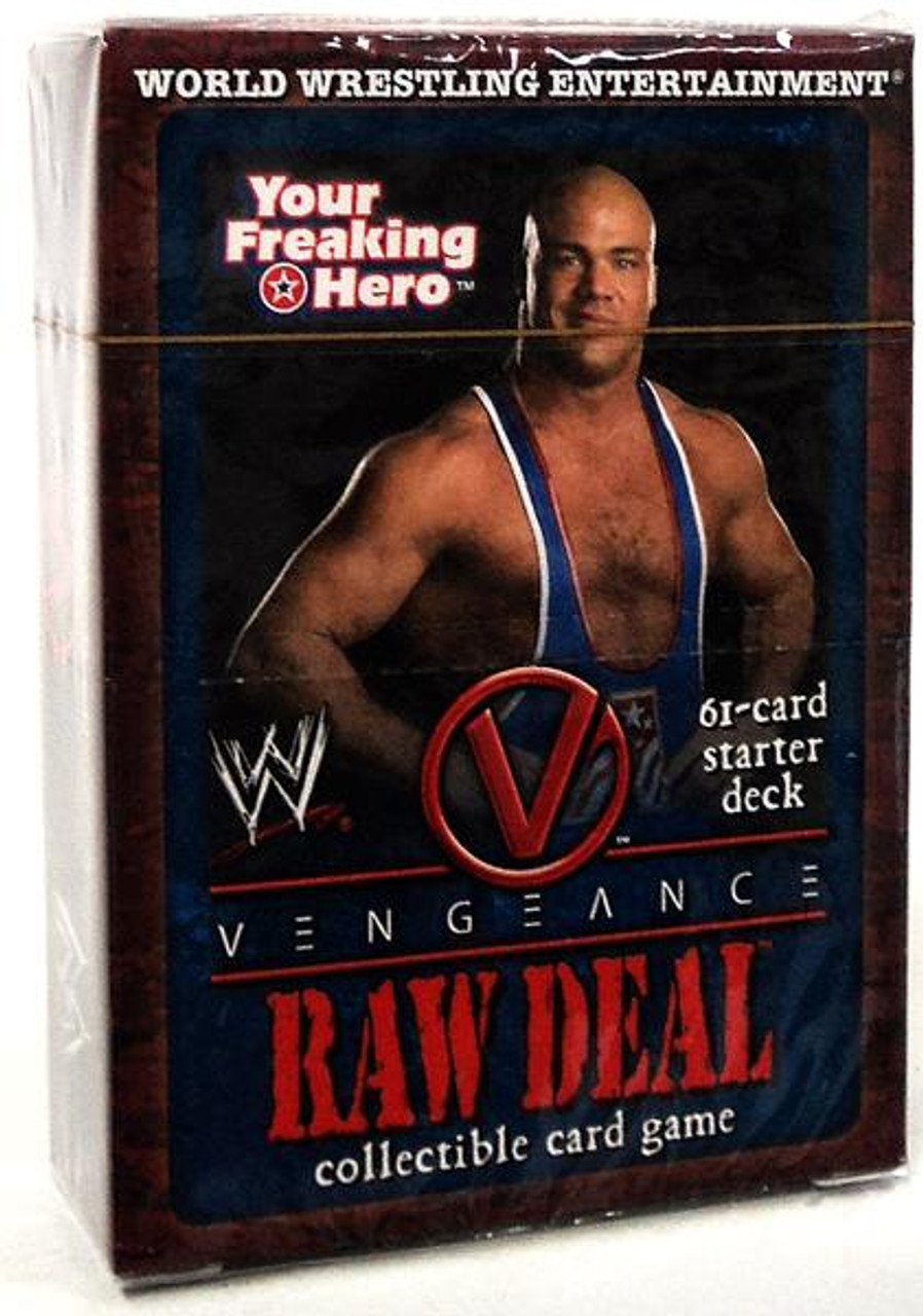 WWE Wrestling Raw Deal Trading Card Game Vengeance Your Freaking Hero Starter Deck