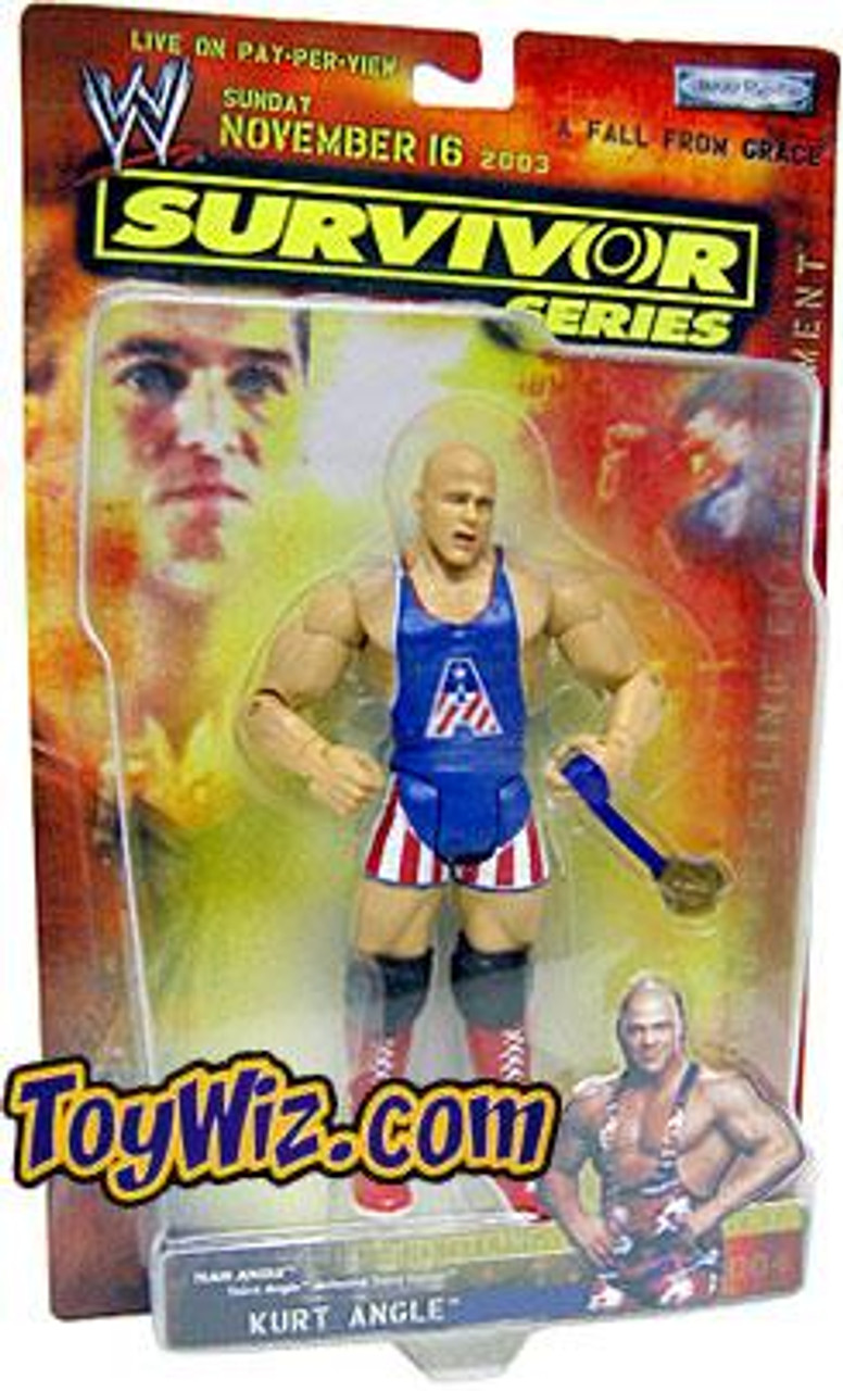 WWE Wrestling Survivor Series 2003 Kurt Angle Action Figure