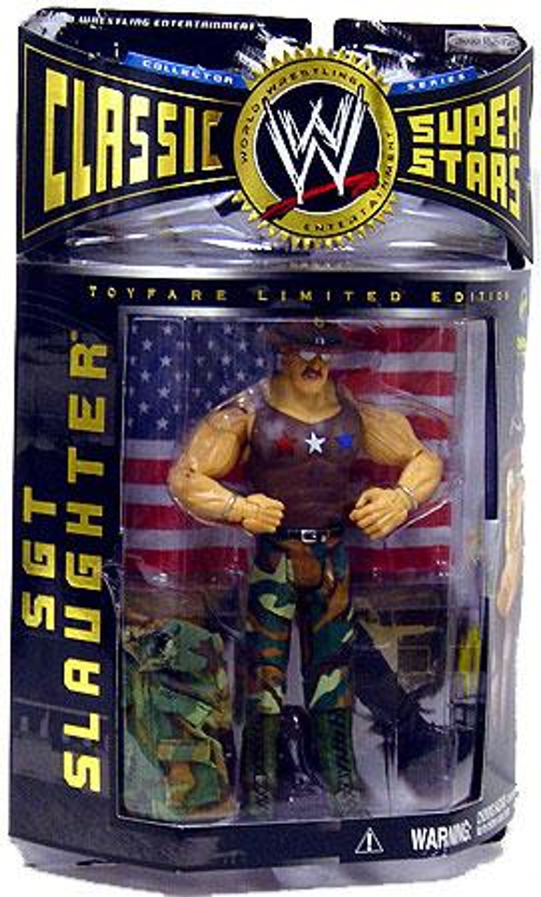 WWE Wrestling Classic Superstars All American Sgt Slaughter Exclusive Action Figure