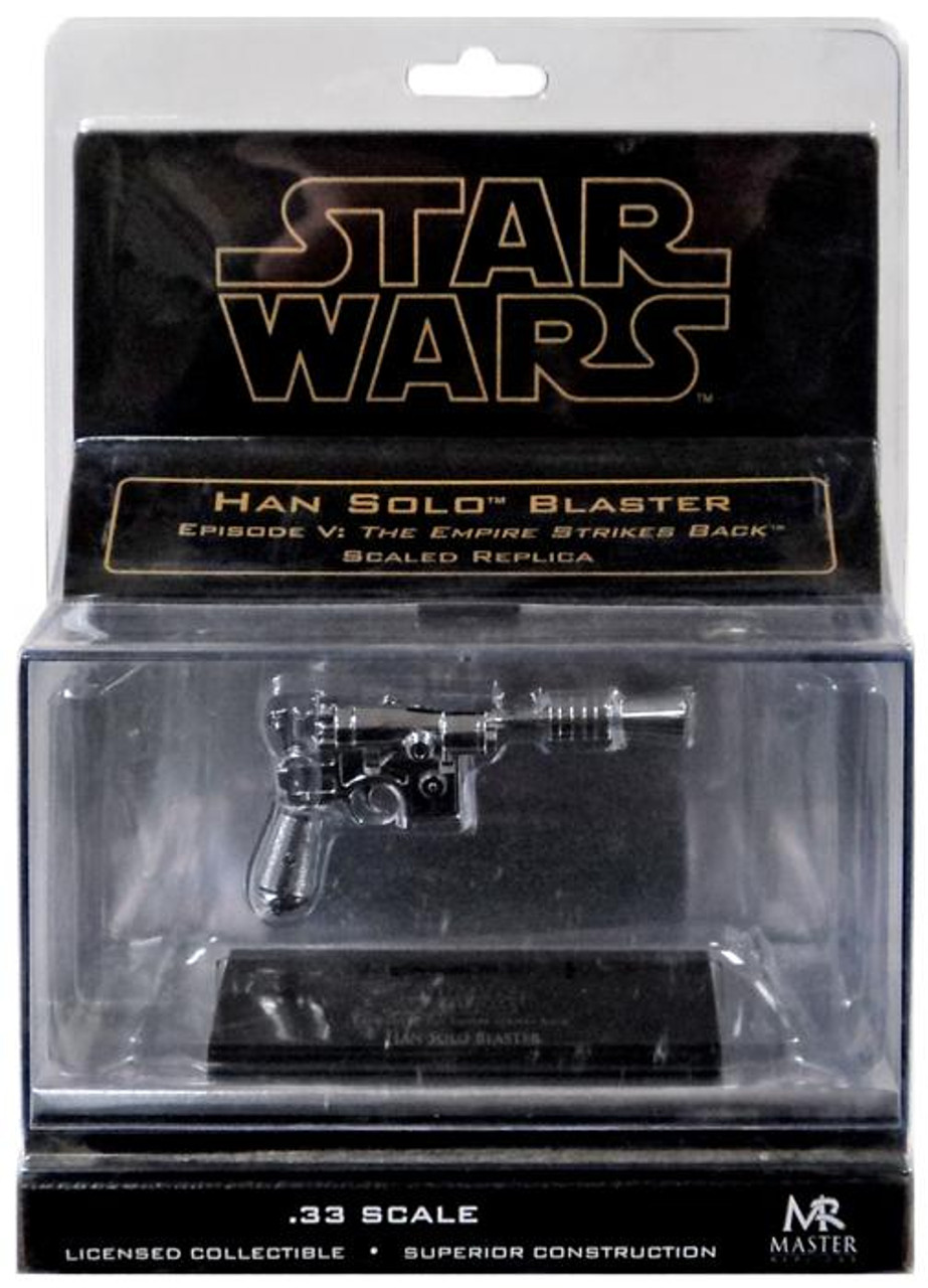 Star Wars Empire Strikes Back Han Solo's Blaster Pistol .33 Prop Replica [Chrome]