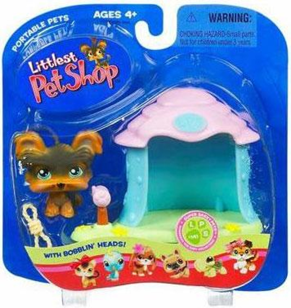 Littlest Pet Shop Portable Pets Yorkie Figure [Doghouse]