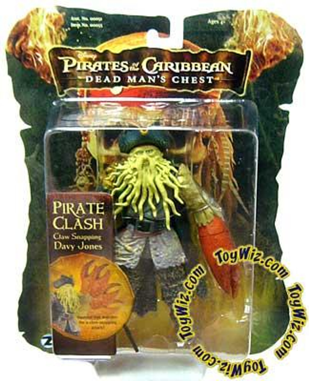 Pirates of the Caribbean Dead Man's Chest Pirate Clash Davy Jones Action Figure [Claw Snapping]