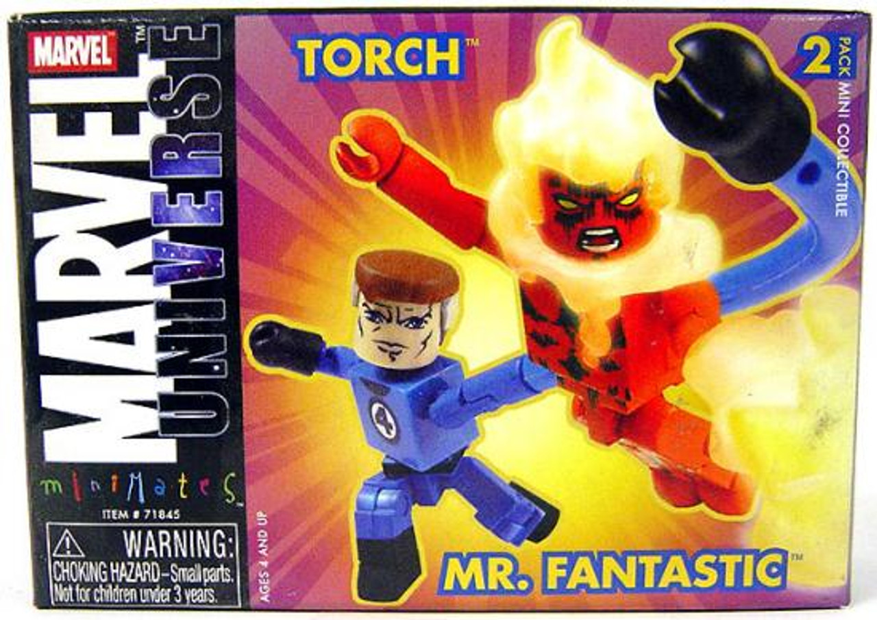 Marvel Universe Minimates Series 8 Mr. Fantastic & Torch Minifigure 2-Pack