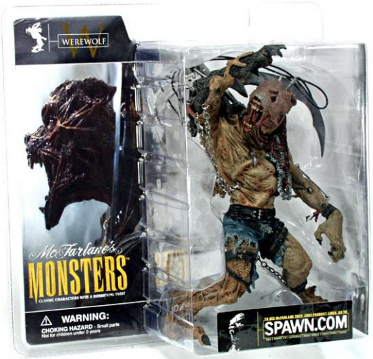 McFarlane Toys McFarlane's Monsters Series 1 Werewolf Action Figure [Clean Package]