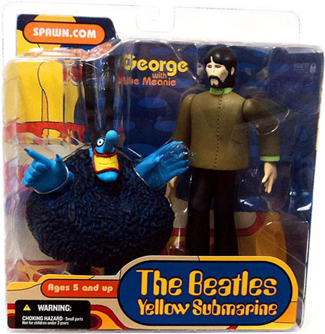 McFarlane Toys The Beatles Yellow Submarine Series 1 George with Blue Meanie Action Figure