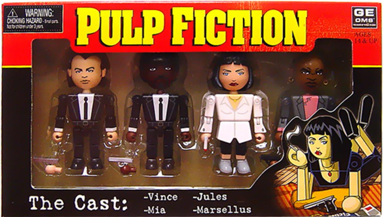NECA Pulp Fiction Geomes The Cast Mini Figure 4-Pack #1