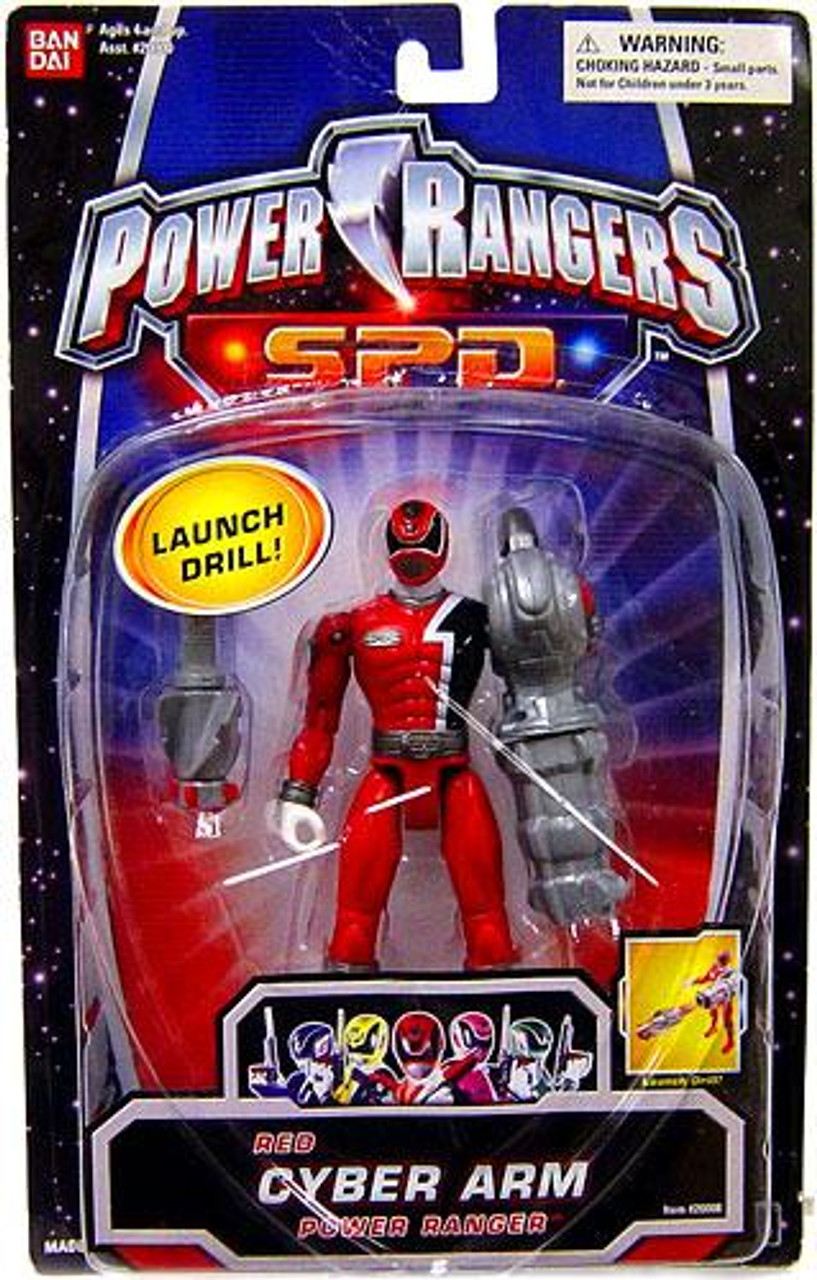 Power Rangers SPD Red Cyber Arm Power Ranger Action Figure