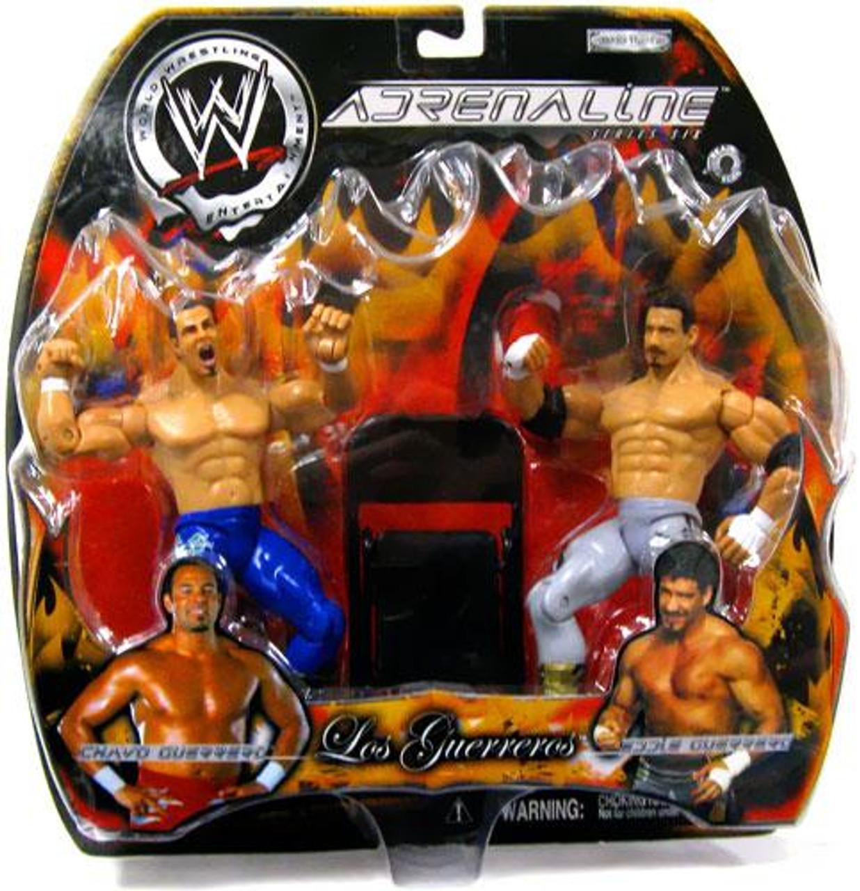 WWE Wrestling Adrenaline Series 6 Los Guerreros Eddie Guerrero & Chavo Guerrero Action Figure 2-Pack