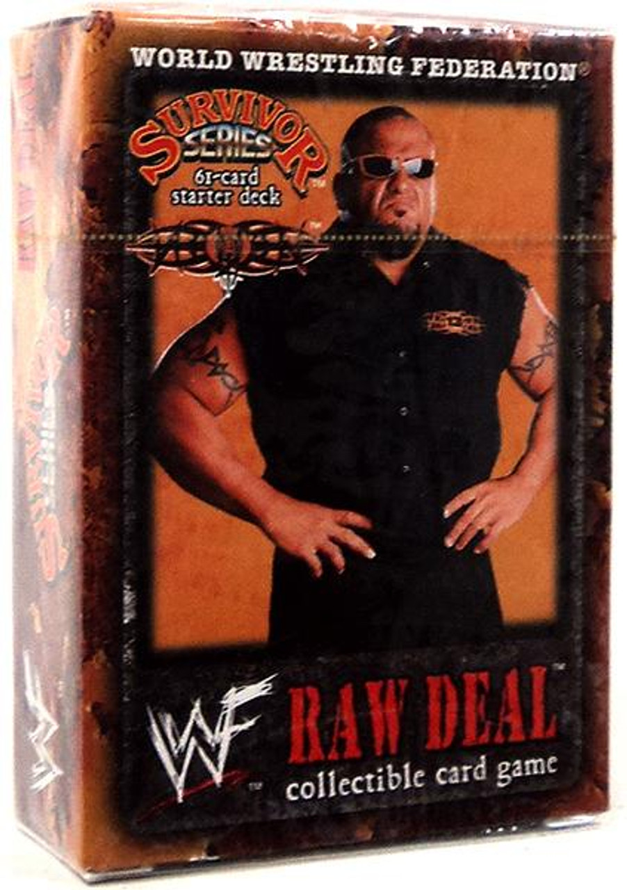 WWE Wrestling Raw Deal Trading Card Game Survivor Series Tazz Starter Deck
