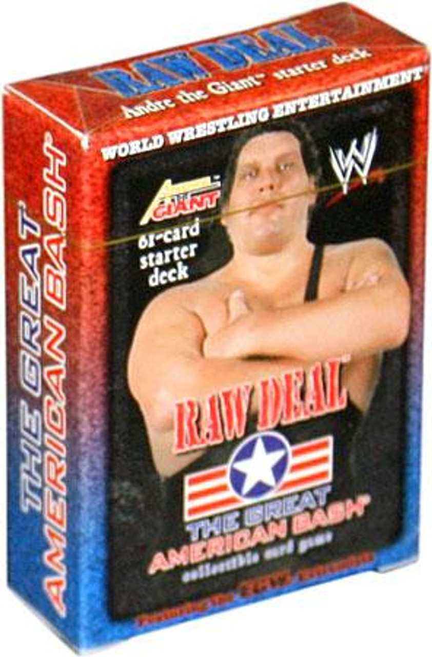 WWE Wrestling Raw Deal Trading Card Game The Great American Bash Andre the Giant Starter Deck