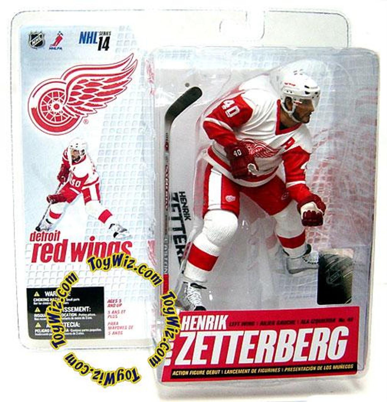 McFarlane Toys NHL Detroit Red Wings Sports Picks Series 14 Henrik Zetterberg Action Figure [White Jersey]