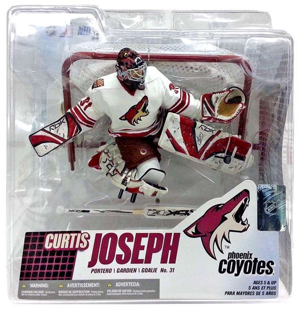 McFarlane Toys NHL Phoenix Coyotes Sports Picks Series 14 Curtis Joseph Action Figure [White Jersey]