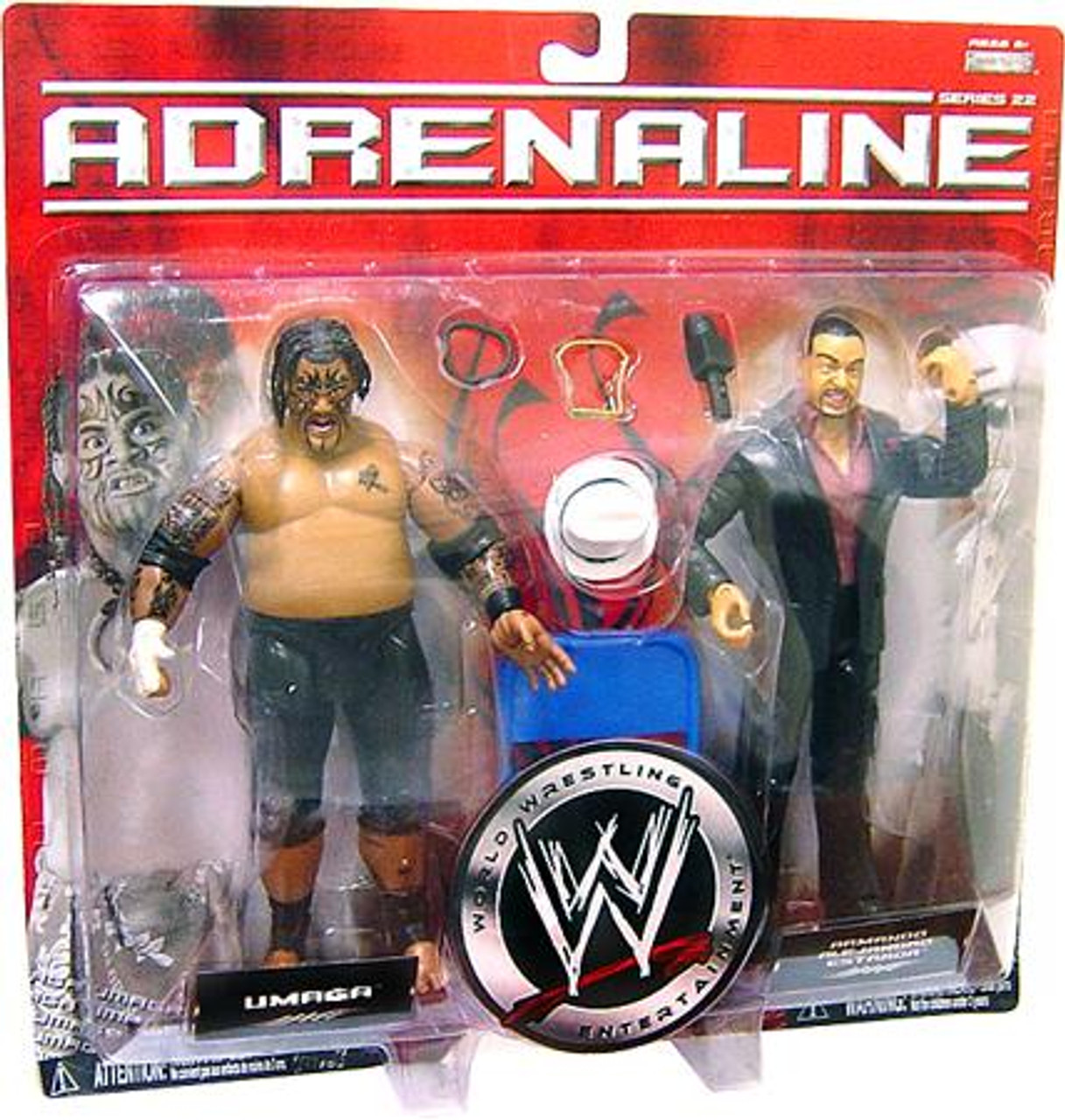 WWE Wrestling Adrenaline Series 22 Umaga & Armando Alejandro Estrada Action Figure 2-Pack