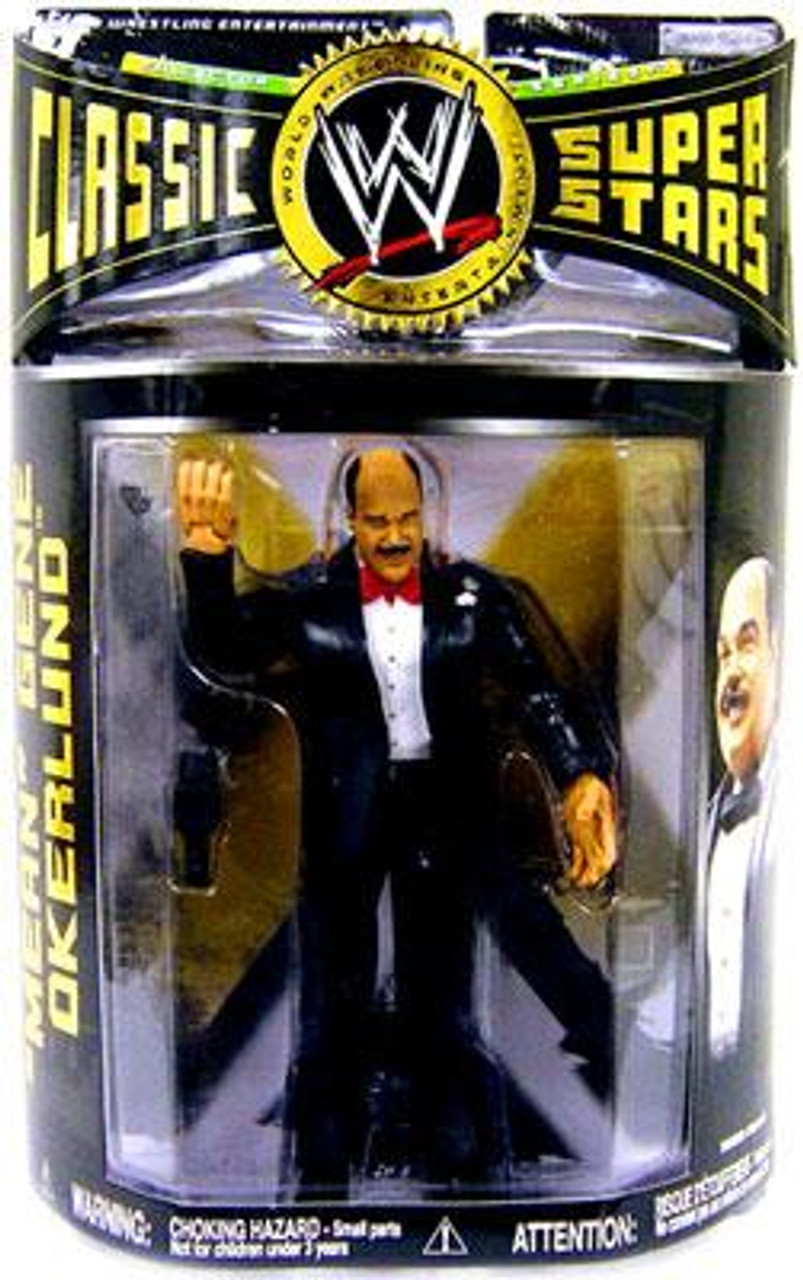 WWE Wrestling Classic Superstars Series 14 Mean Gene Okerlund Action Figure