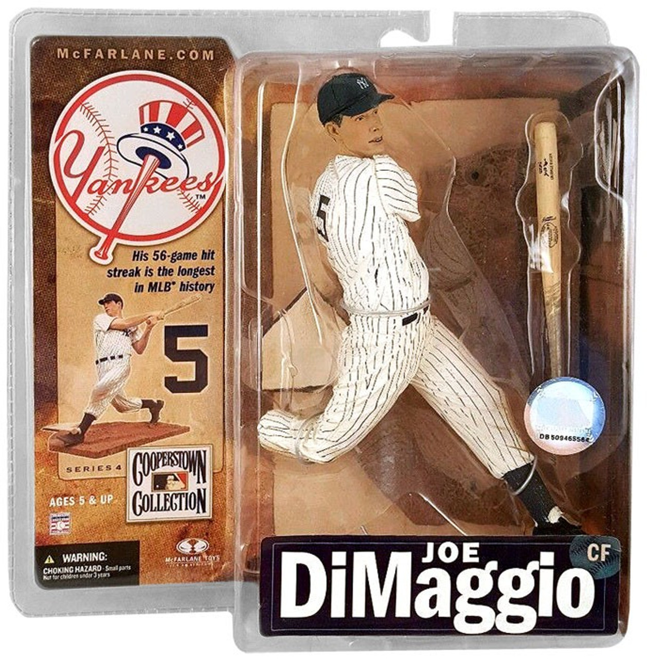 McFarlane Toys MLB New York Yankees Cooperstown Collection Series 4 Joe DiMaggio Action Figure [Pinstripes]