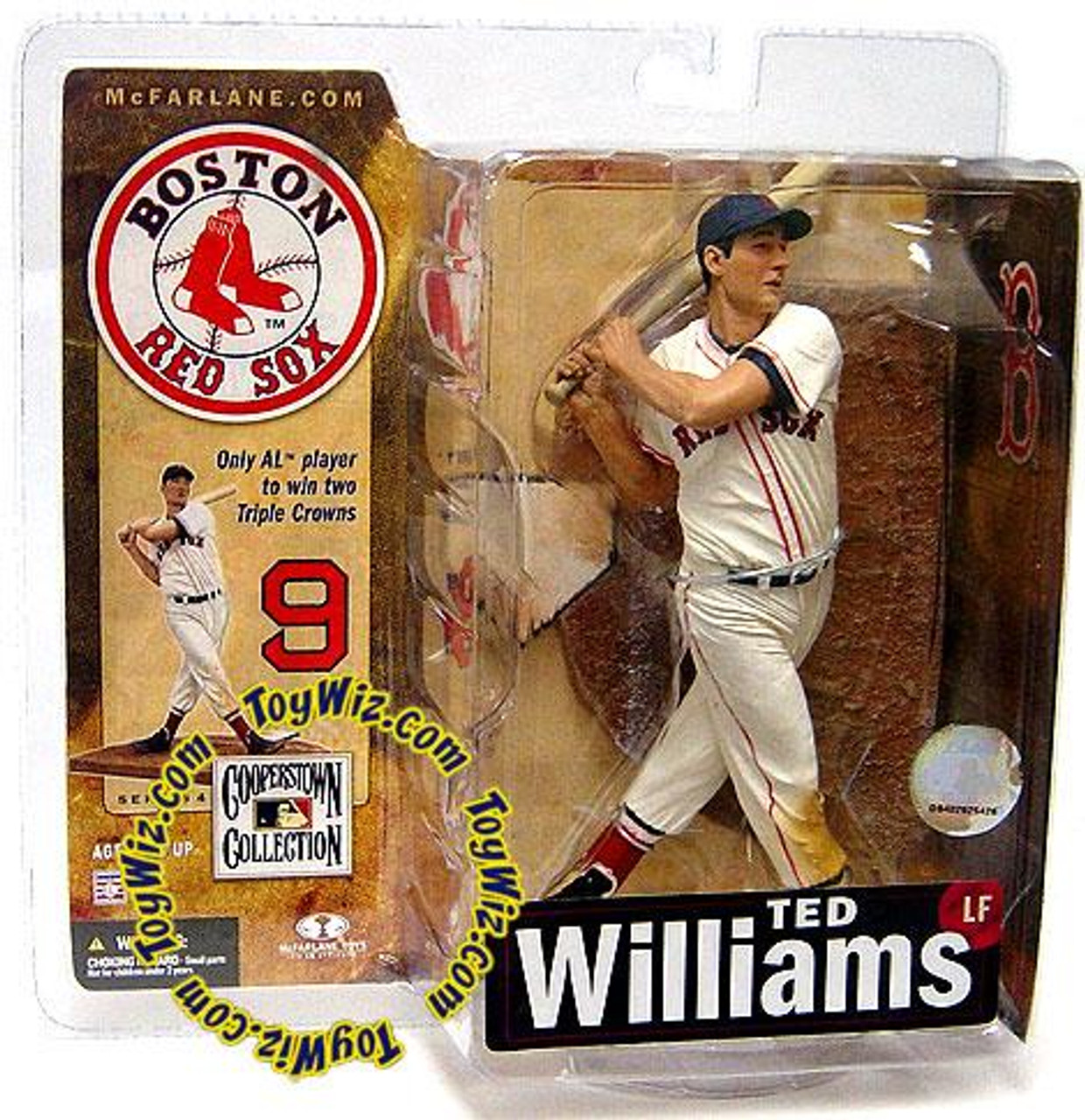 McFarlane Toys MLB Boston Red Sox Cooperstown Collection Series 4 Ted Williams Action Figure [White Uniform]