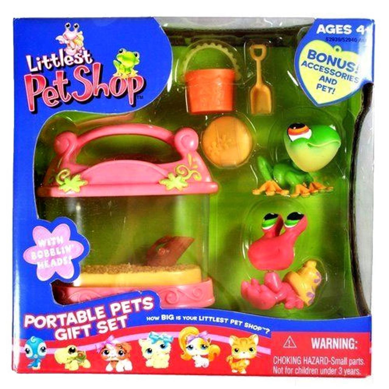 Littlest Pet Shop Portable Pets Tree Frog & Hermit Crab Exclusive Figure 2-Pack