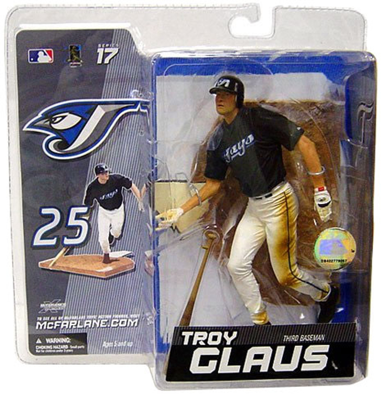 McFarlane Toys MLB Toronto Blue Jays Sports Picks Series 17 Exclusive Troy Glaus Exclusive Action Figure