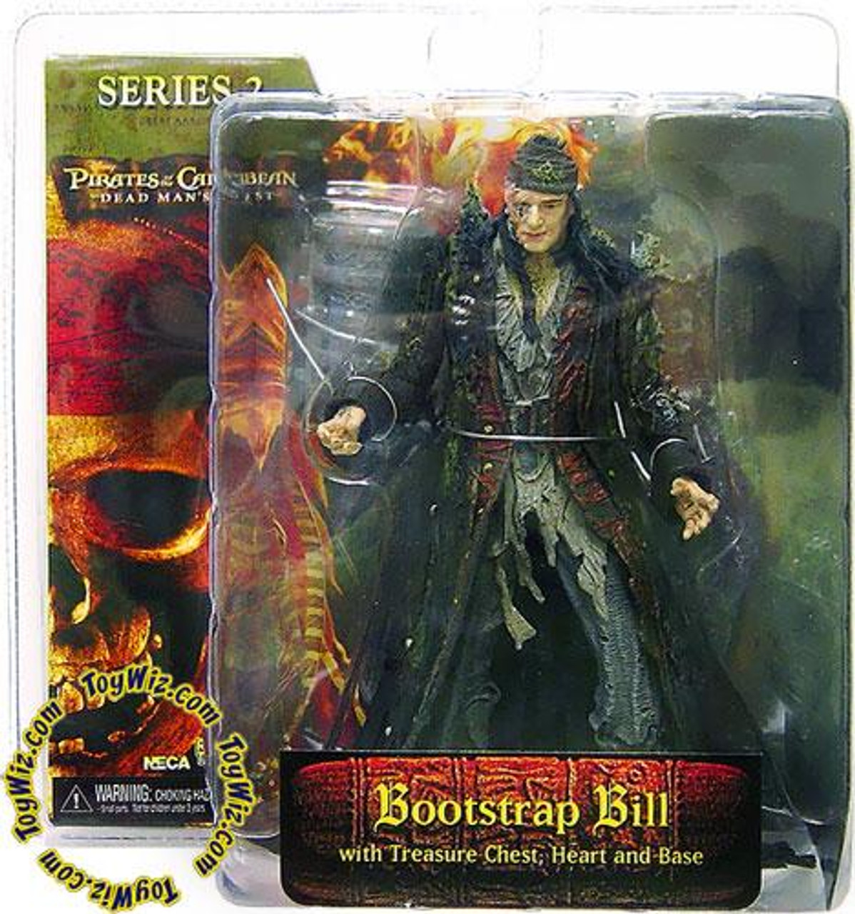 NECA Pirates of the Caribbean Dead Man's Chest Series 2 Bootstrap Bill Turner Action Figure