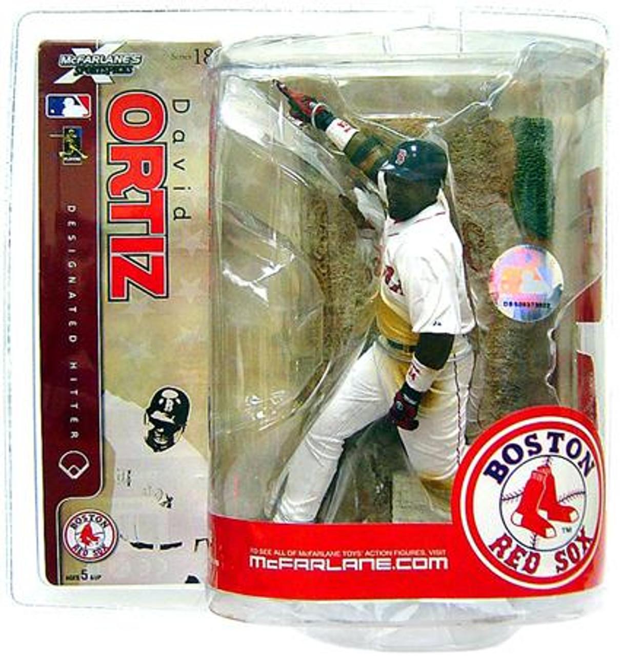 McFarlane Toys MLB Boston Red Sox Sports Picks Series 18 David Ortiz Action Figure [White Jersey]