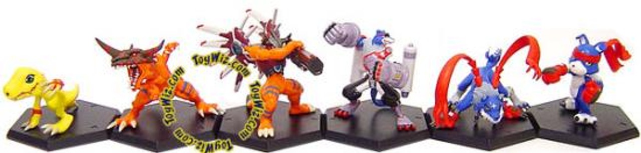 Digimon Set of 6 Japanese Fighting PVC Figures