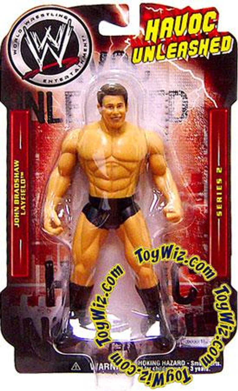 WWE Wrestling Havoc Unleashed Series 2 John Bradshaw Layfield Action Figure