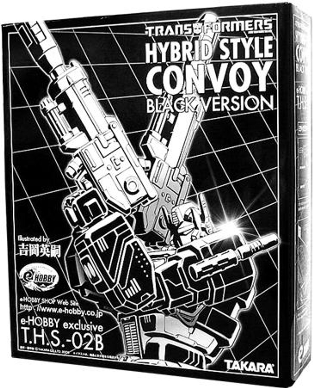 Transformers Japanese Galaxy Force Hybrid Style Convoy Exclusive Action Figure T.H.S.-02B [Black Version]