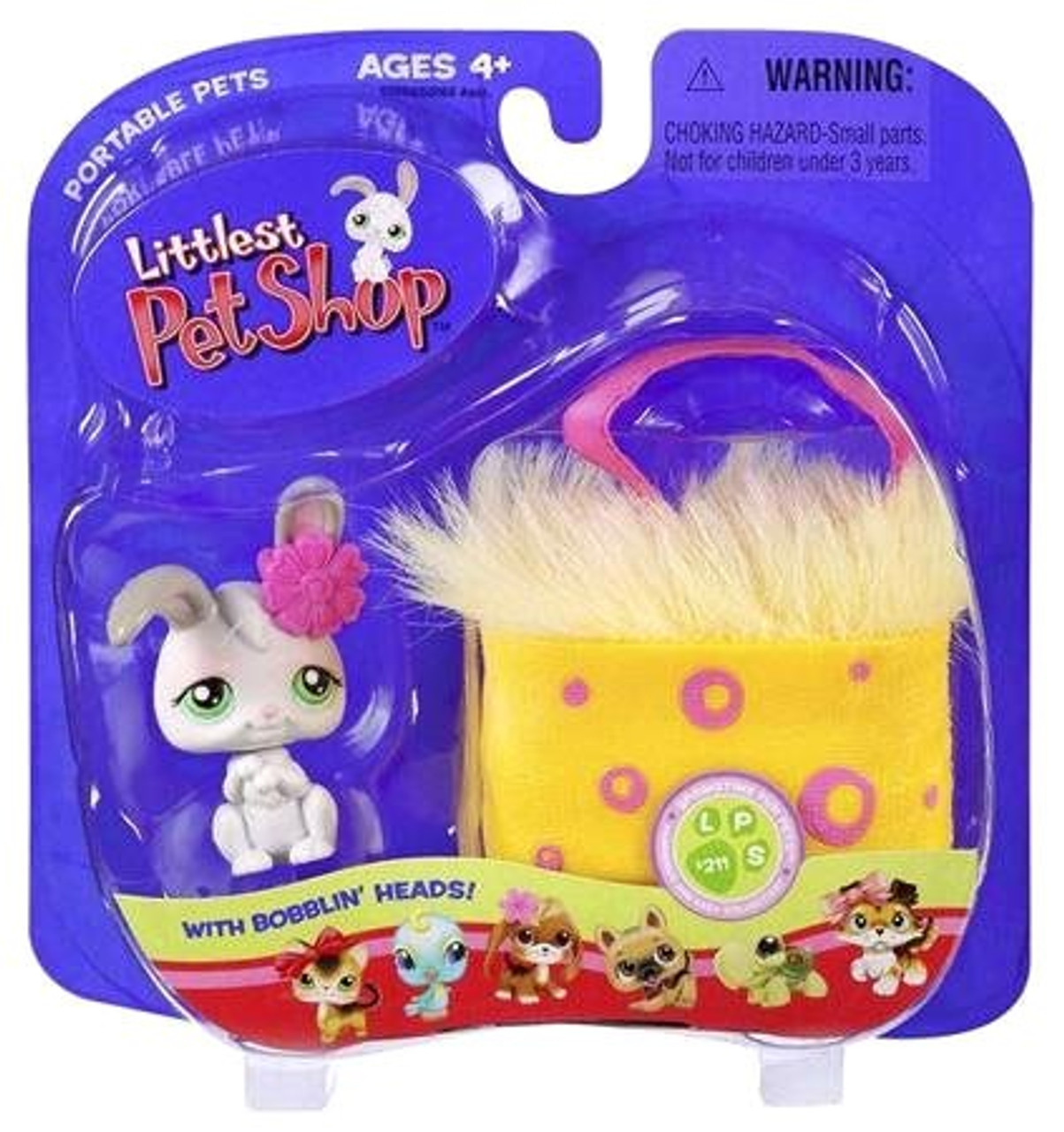 Littlest Pet Shop Portable Pets Bunny Figure [In Basket]