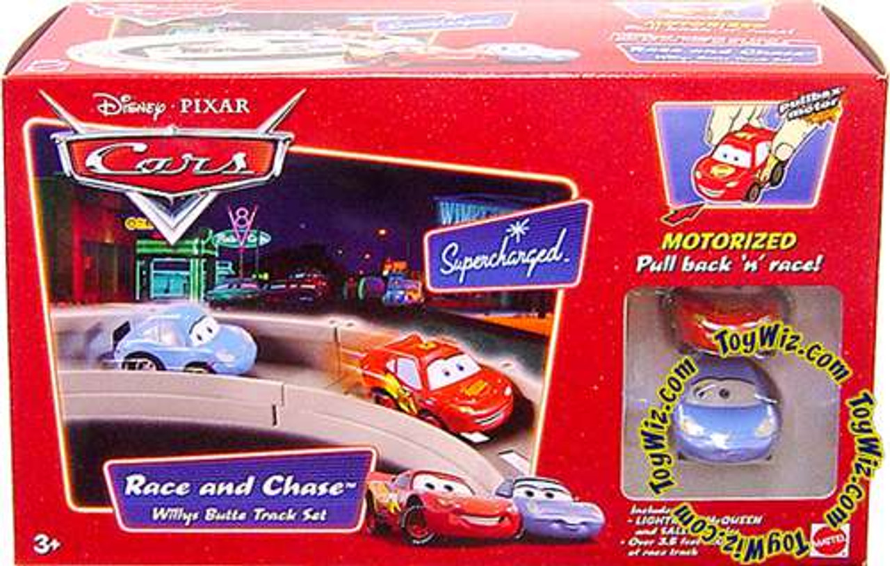 Disney Cars Supercharged Race and Chase Willys Butte Diecast Car Track Set