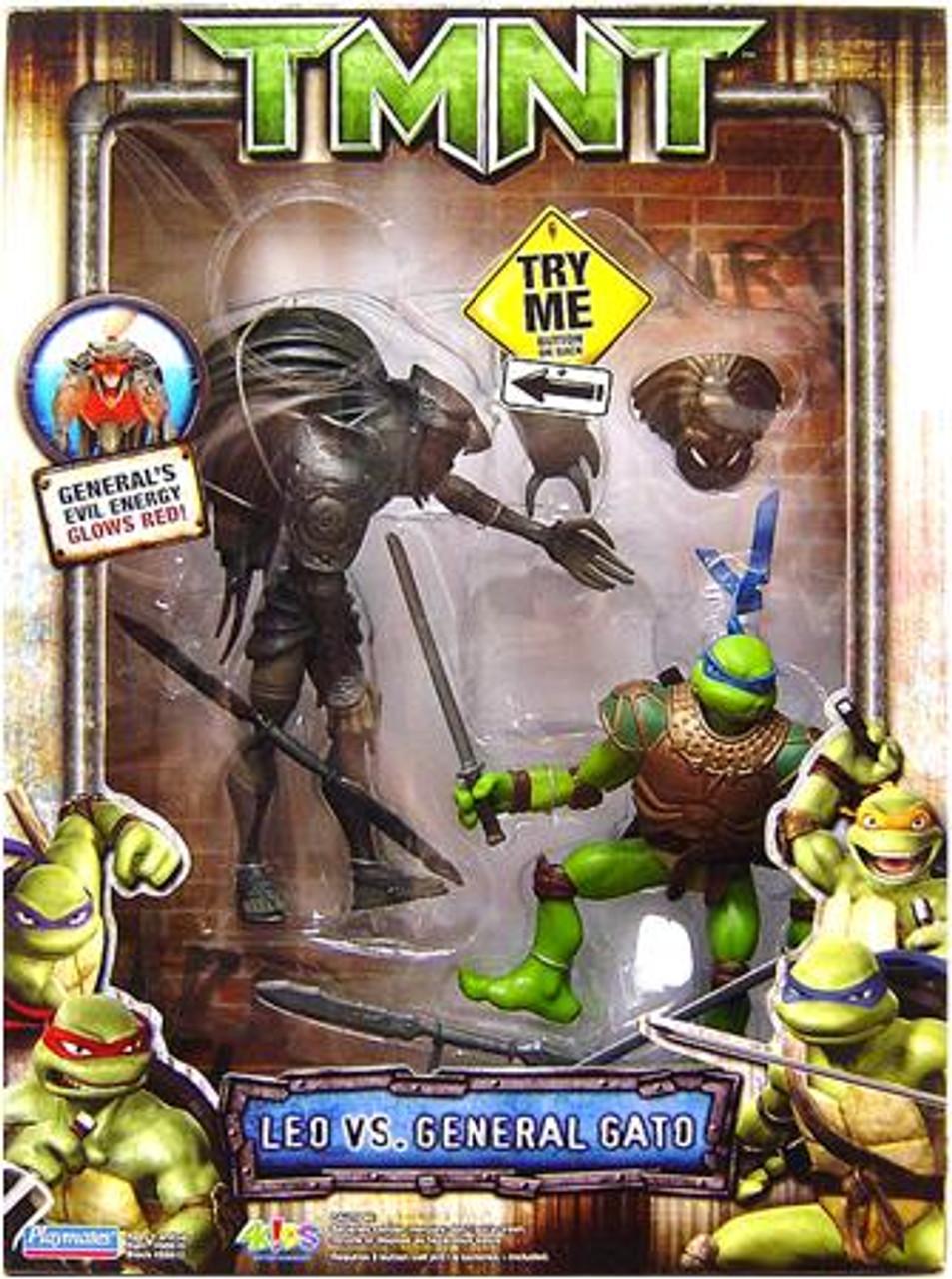 Teenage Mutant Ninja Turtles TMNT Leonardo Vs. General Gato Action Figure 2-Pack