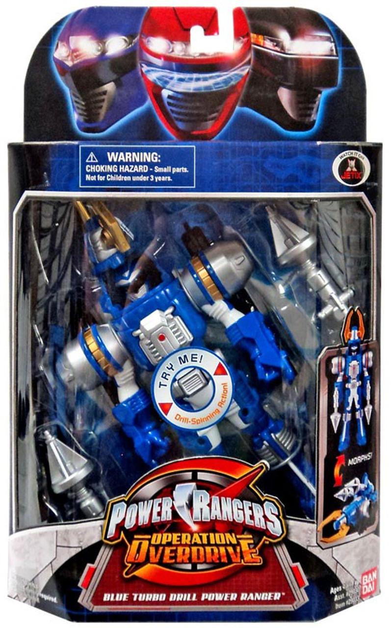 Power Rangers Operation Overdrive Blue Turbo Drill Power Ranger Action Figure