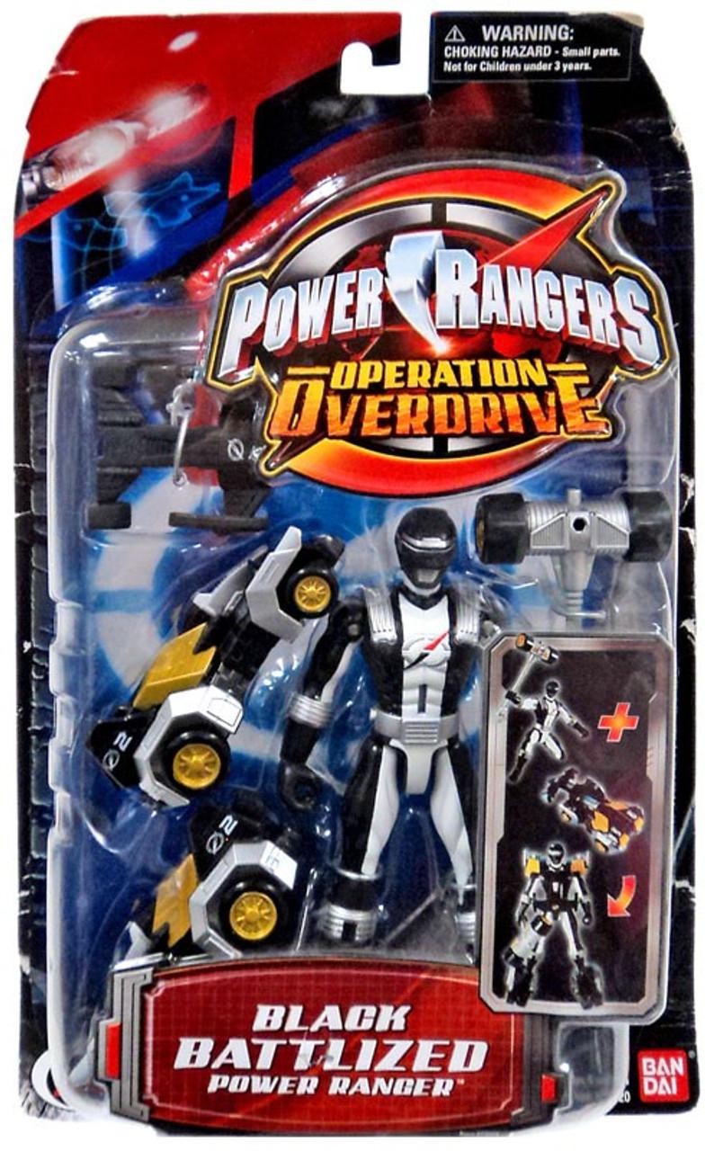 Power Rangers Operation Overdrive Black Battlized Power Ranger Action Figure