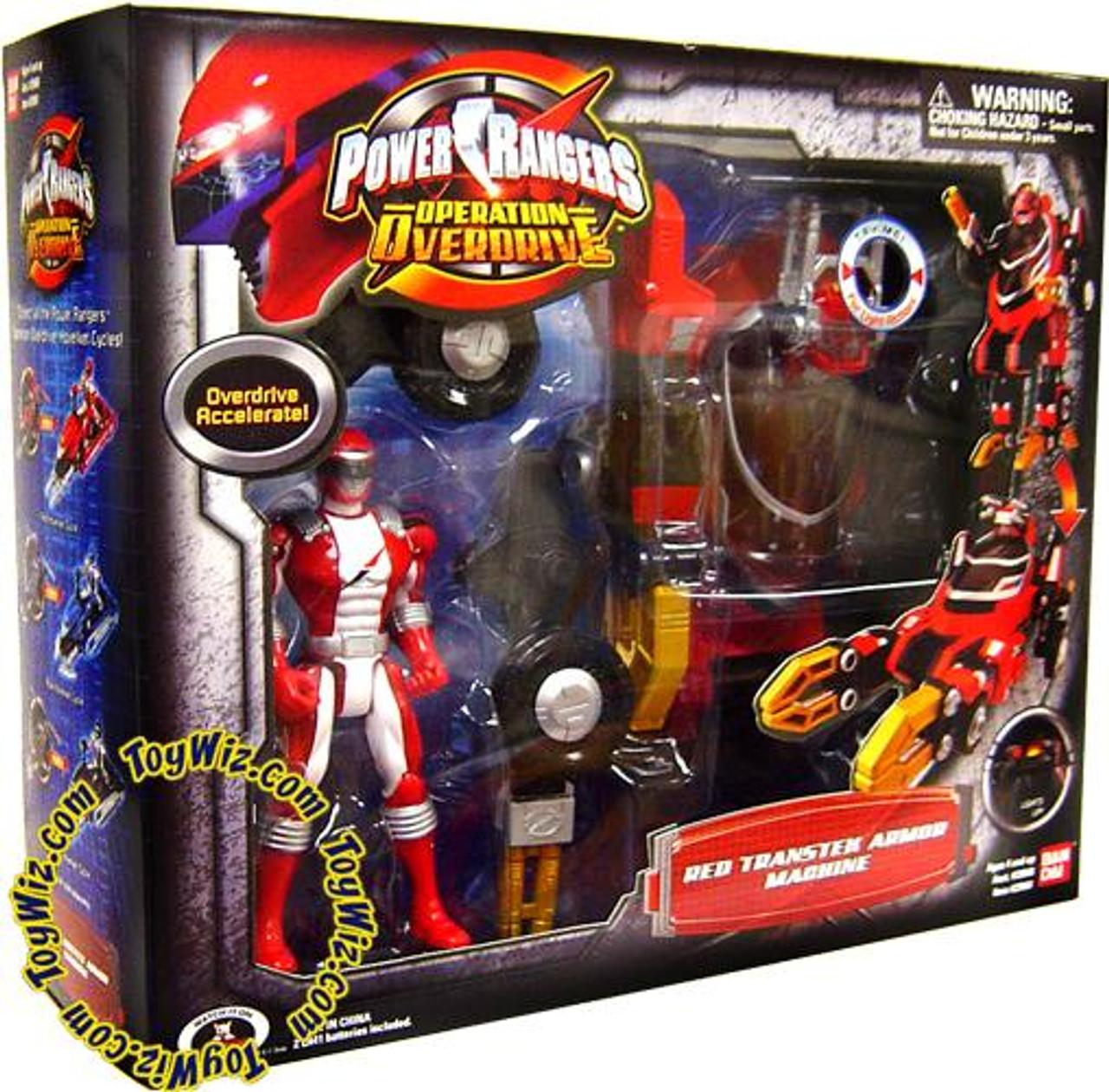 Power Rangers Operation Overdrive Red Transtek Armor Machine Action Figure Set