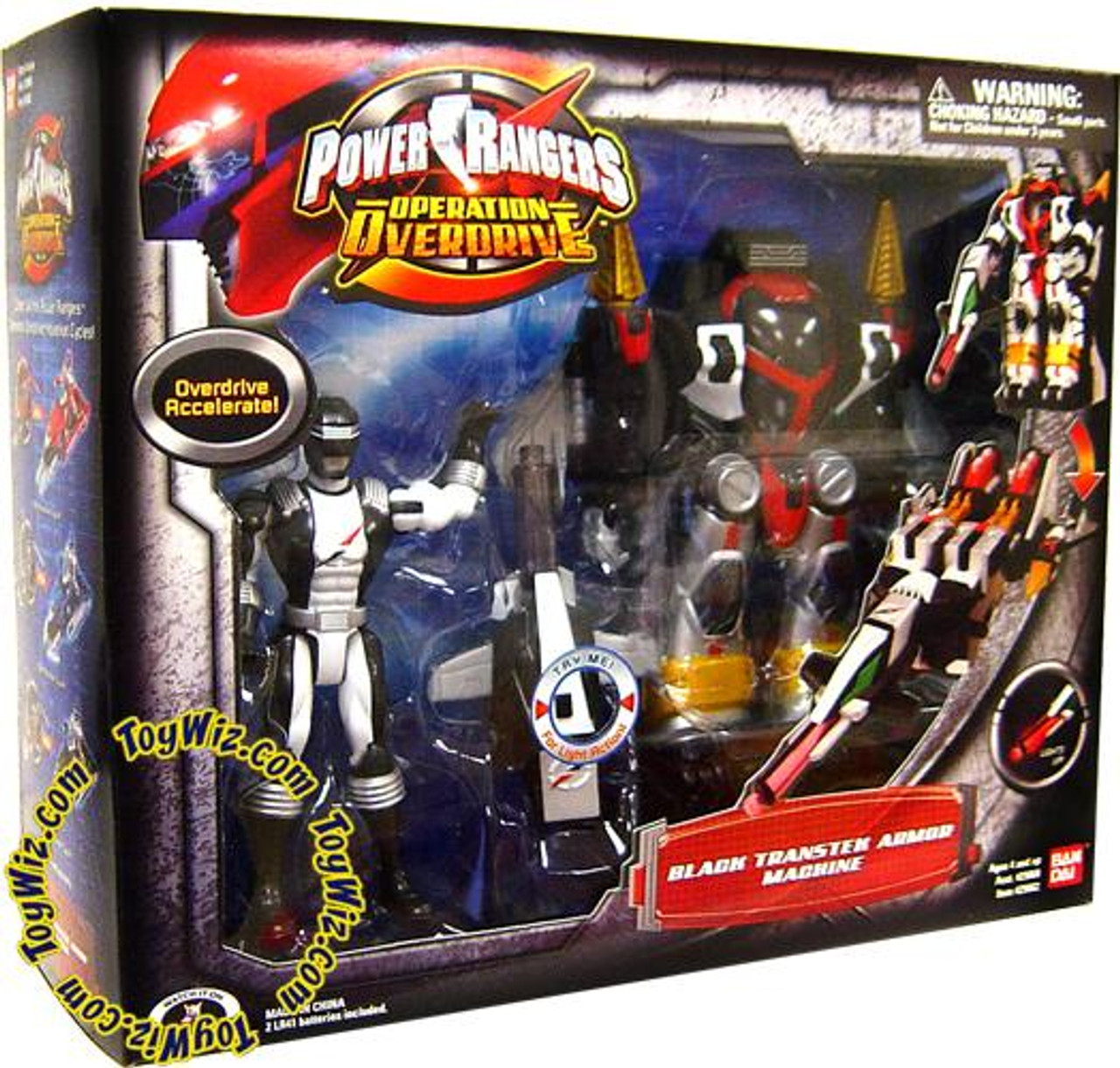 Power Rangers Operation Overdrive Black Transtek Armor Machine Action Figure Set