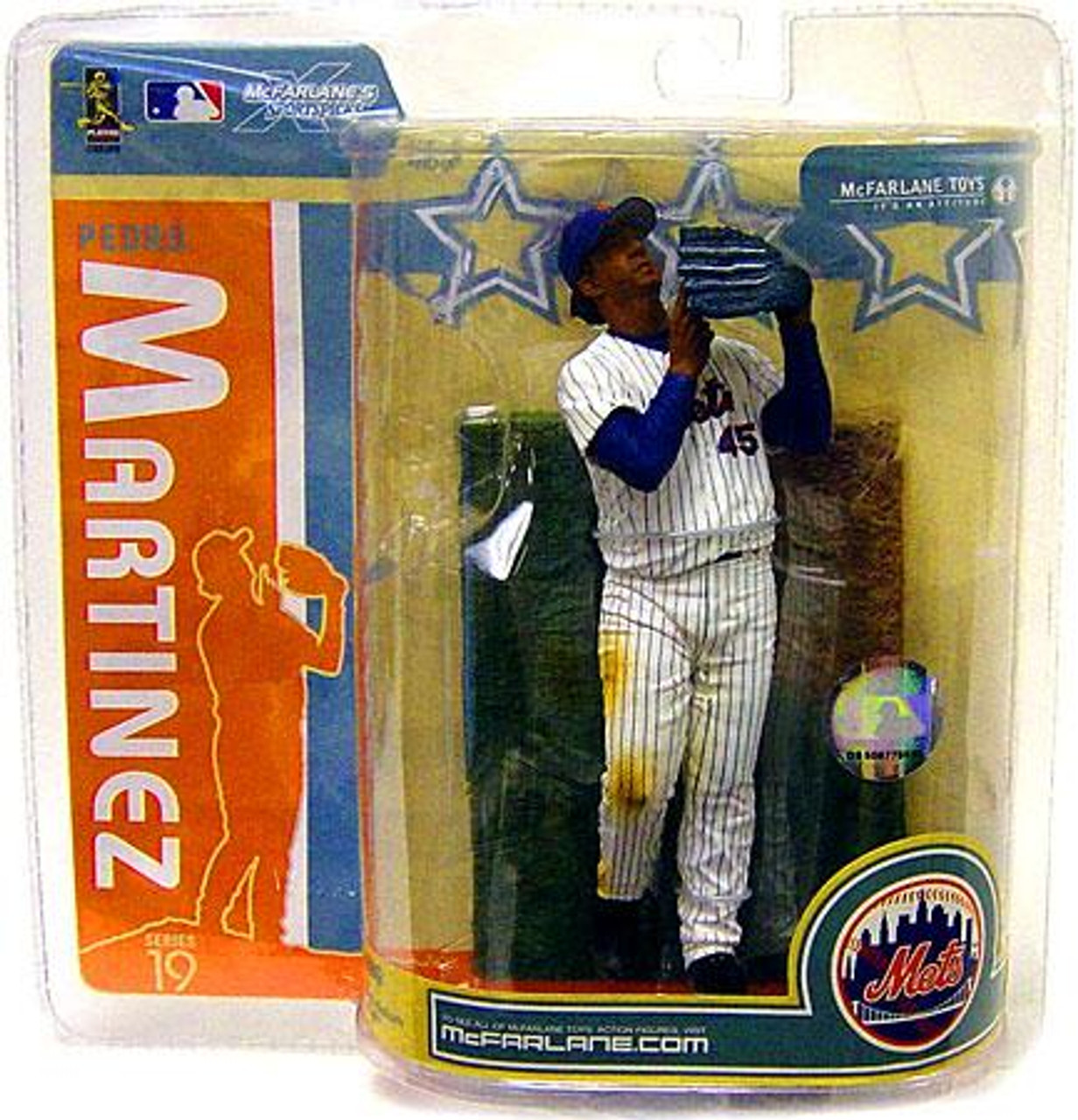 McFarlane Toys MLB New York Mets Sports Picks Series 19 Pedro Martinez Action Figure [White Jersey]