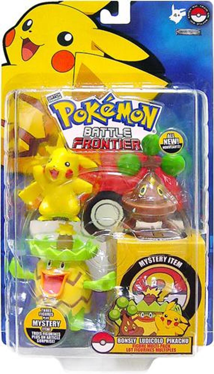 Pokemon Battle Frontier Bonsly, Ludicolo & Pikachu Figure 3-Pack