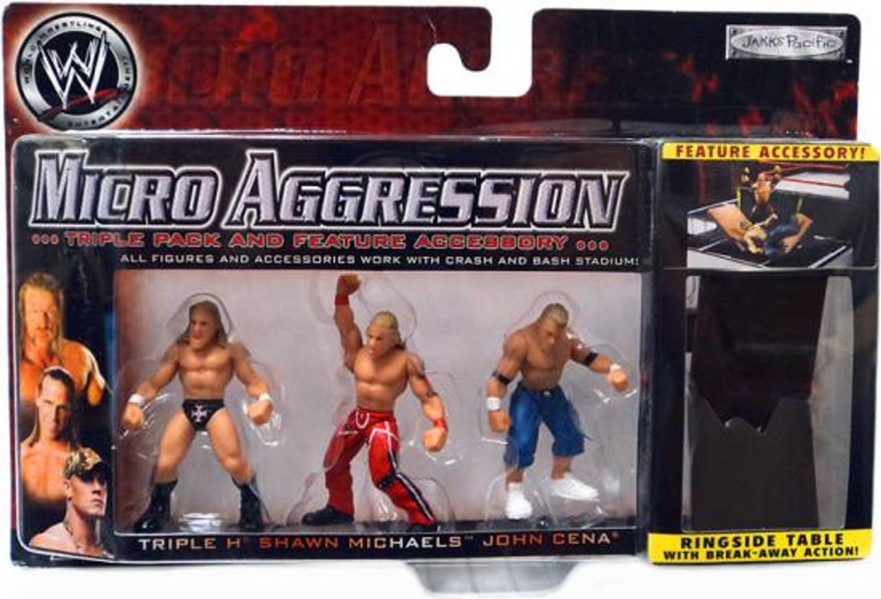 WWE Wrestling Micro Aggression Series 1 Mini Figure 3-Pack