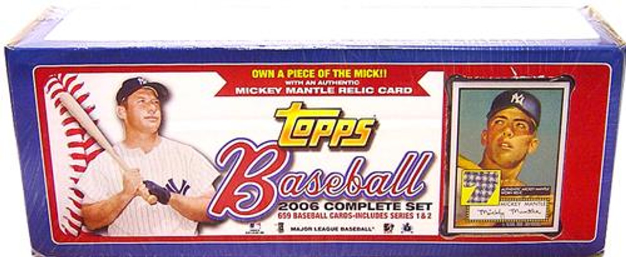 MLB 2006 Topps Baseball Cards Exclusive Complete Set [Mantle Patch Card] [Factory Sealed]