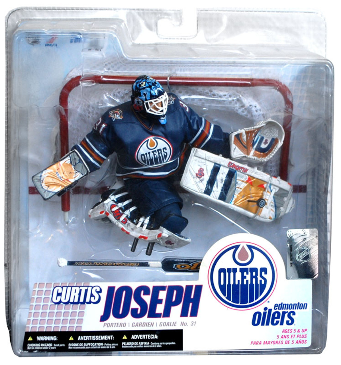 McFarlane Toys NHL Edmonton Oilers Sports Picks Series 14 Curtis Joseph Action Figure [Retro Blue Jersey]