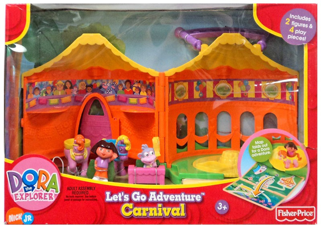 Fisher Price Dora the Explorer Let's Go Adventure Carnival Playset